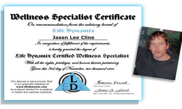 Jason Cline – Certified Wellness Specialist