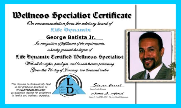 George Batista Jr. Certified Wellness Specialist